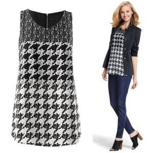 Cabi Houndstooth Broken Check Sleeveless 3090 M